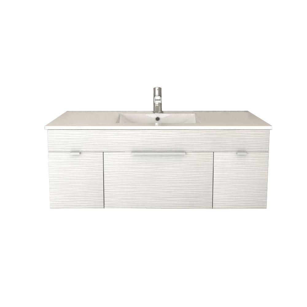 cutler kitchen and bath vanity white cabinets textures collection 48 in w driftwood with acrylic sink fv dw48 the home depot