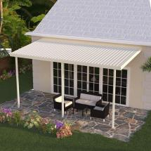 Integra 8 Ft. X 12 Ivory Aluminum Attached Solid Patio