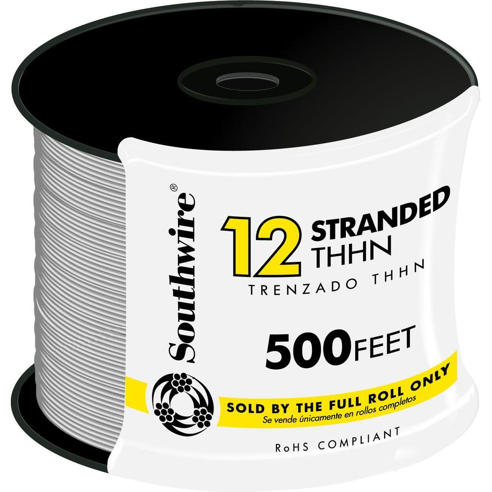medium resolution of 12 white stranded cu thhn wire