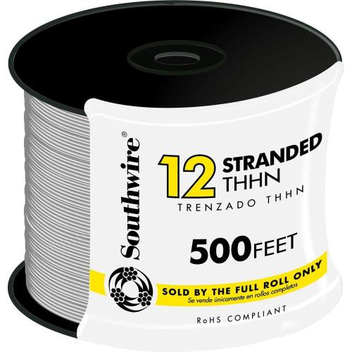 small resolution of 12 white stranded cu thhn wire