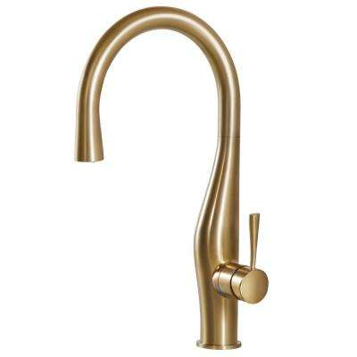 brass faucet kitchen extra large sink faucets the home depot vision single handle pull down sprayer with hidden and ceradox technology