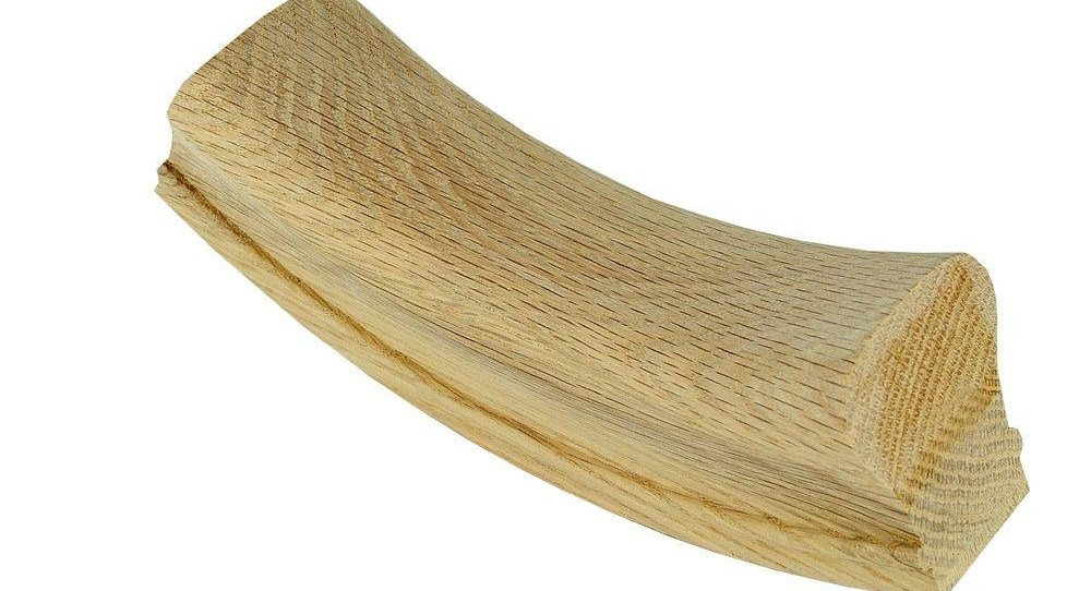 Stair Parts 7012 Unfinished Red Oak Up Easing Stair Handrail   Red Oak Handrail Home Depot   Staircase   6084   Stair Handrail Fitting   Bending   Oak Stair Treads