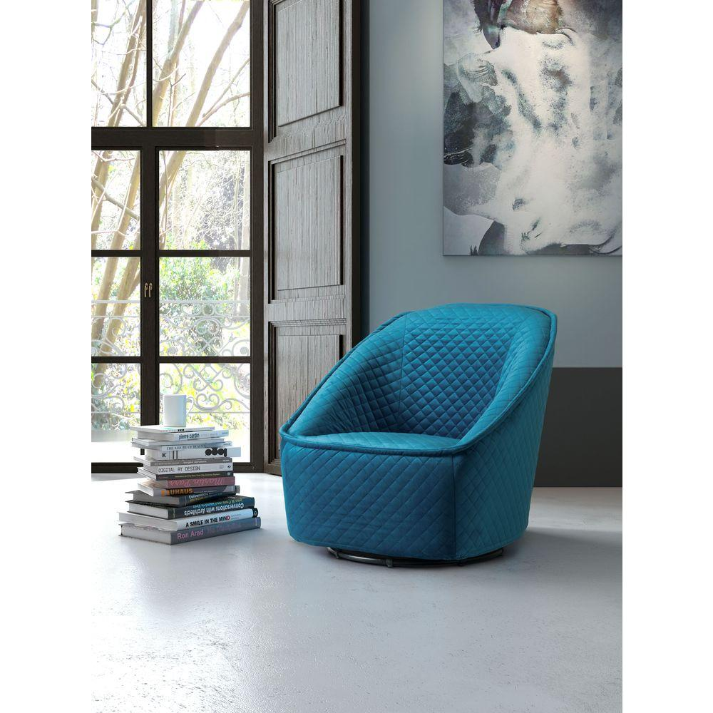 quilted swivel chair luraco pedicure zuo pug aquamarine velvet arm 100251 the home