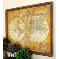 34 in. x 41 in. MDF Antique World Map Wall Decor-20327 ...