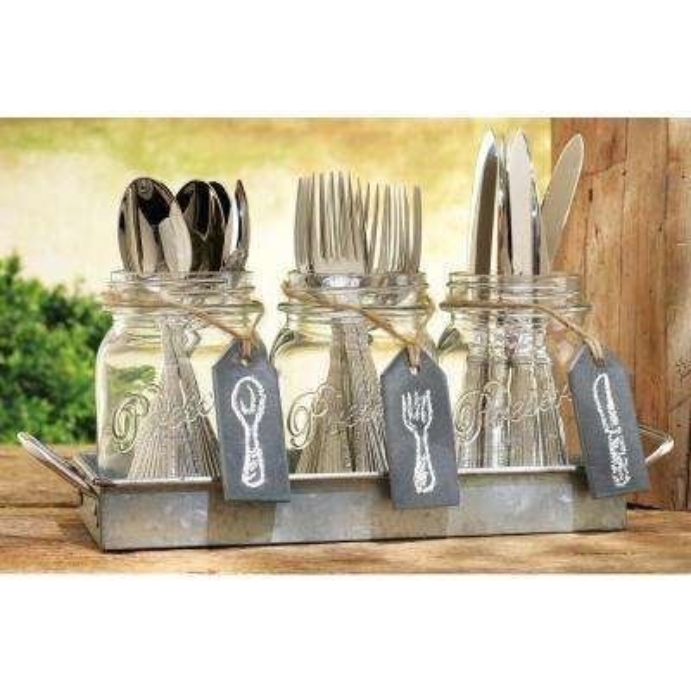 kitchen tool holder island movable utensil holders utensils the home depot galvanized