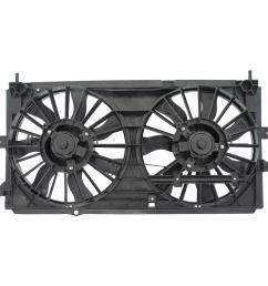 dual fan assembly without controller 2000 2003 chevrolet impala 3 4l 3 8l [ 1000 x 1000 Pixel ]