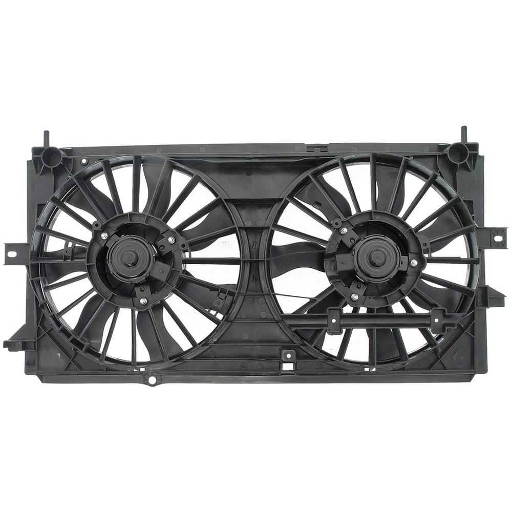 hight resolution of dual fan assembly without controller 2000 2003 chevrolet impala 3 4l 3 8l