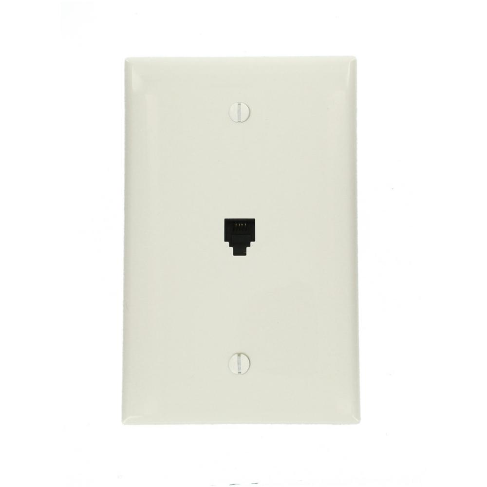 hight resolution of midway 6p4c telephone wall jack white