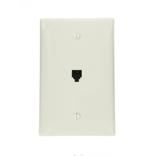 small resolution of midway 6p4c telephone wall jack white
