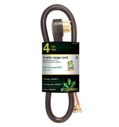 power by go green 4 ft 6 2 and 8 2 3 wire range cord gg 27204 the wire 6 ft electric range cord description 50 amp 4 wire 6 foot range [ 1000 x 1000 Pixel ]