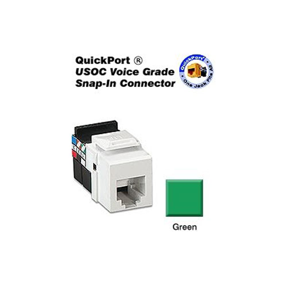 hight resolution of leviton rj11 jack wiring diagram wiring libraryleviton quickport 6p6c voice grade connector green 41106 rv6 the