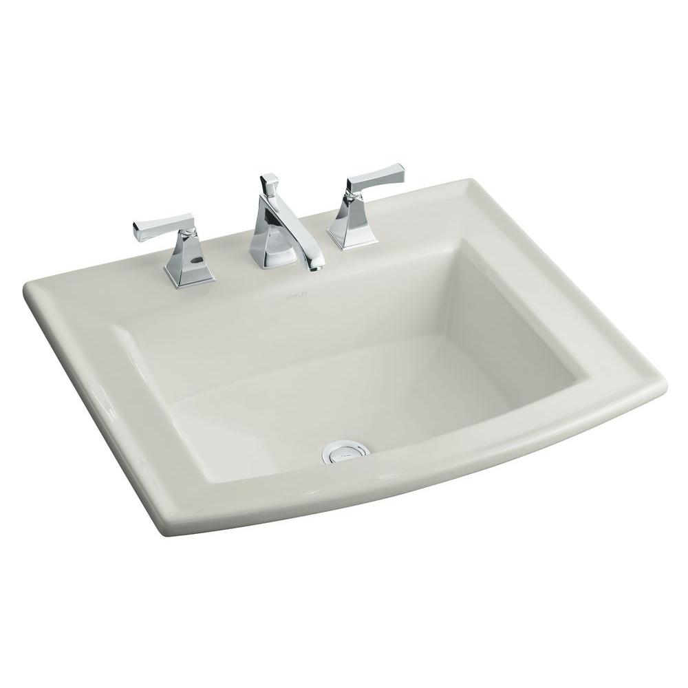 KOHLER Archer DropIn Glass Bathroom Sink in Ice Grey with Overflow DrainK2356895  The Home