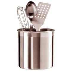 Kitchen Tool Holder Ikea Shaker Cabinets Oggi Jumbo Utensil In Stainless Steel 33022930 The Home Depot