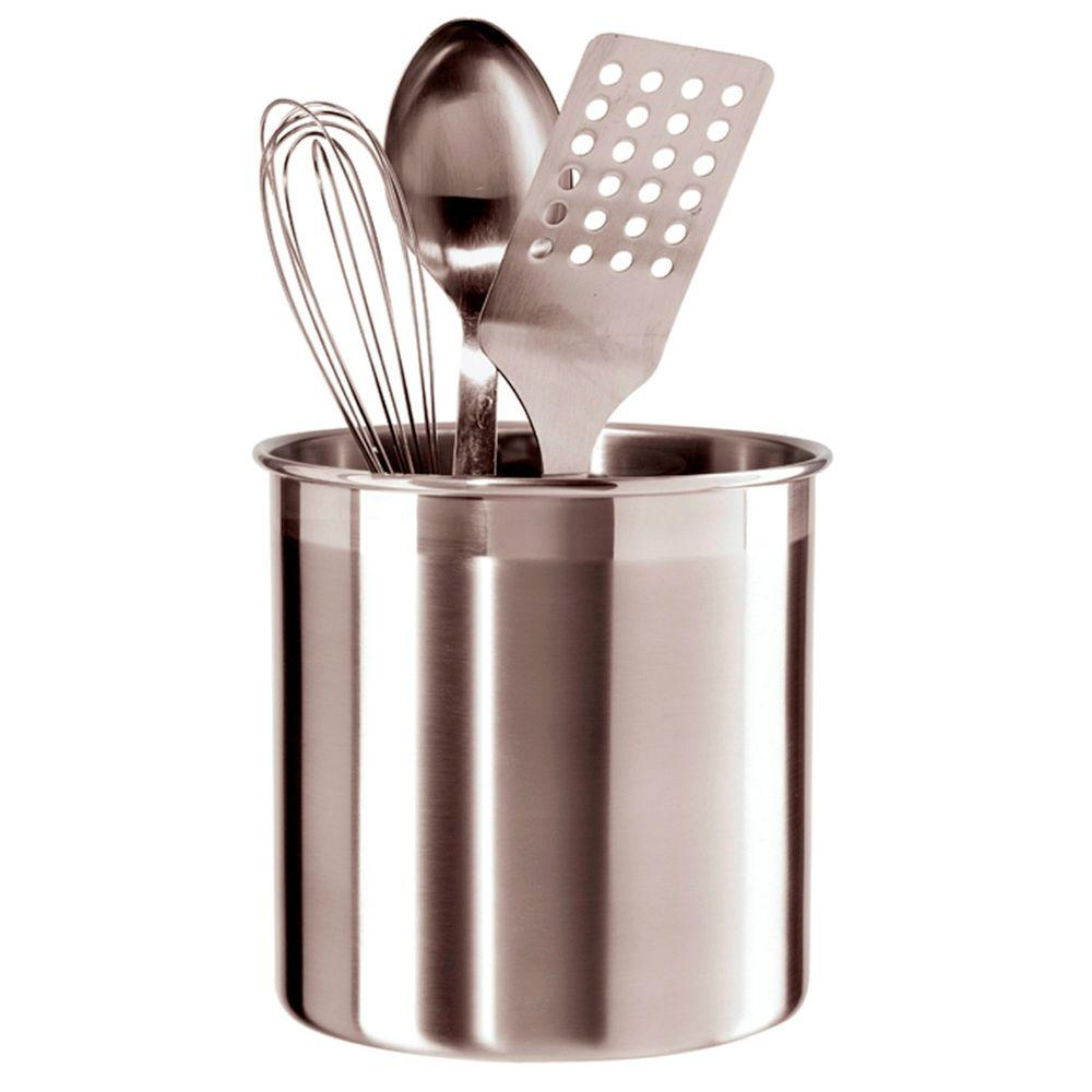 kitchen tool holder wall cabinet sizes for cabinets oggi jumbo utensil in stainless steel 33022930 the home depot