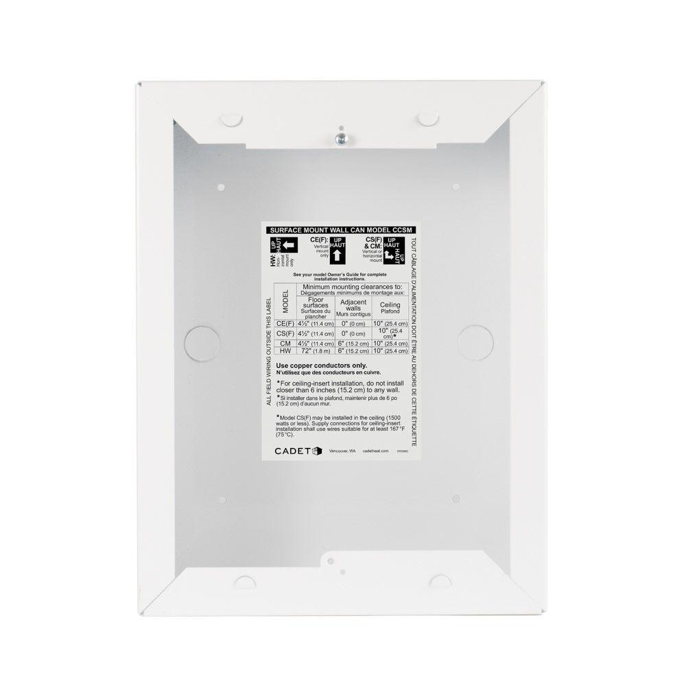 medium resolution of cadet com pak surface mount wall can in white