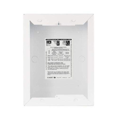 small resolution of cadet com pak surface mount wall can in white