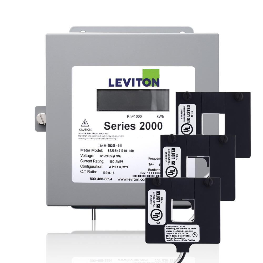 hight resolution of leviton series 2000 three phase indoor meter kit 208 volt 3p4 watt 100