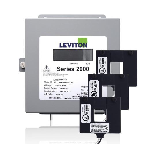 small resolution of leviton series 2000 three phase indoor meter kit 208 volt 3p4 watt 100