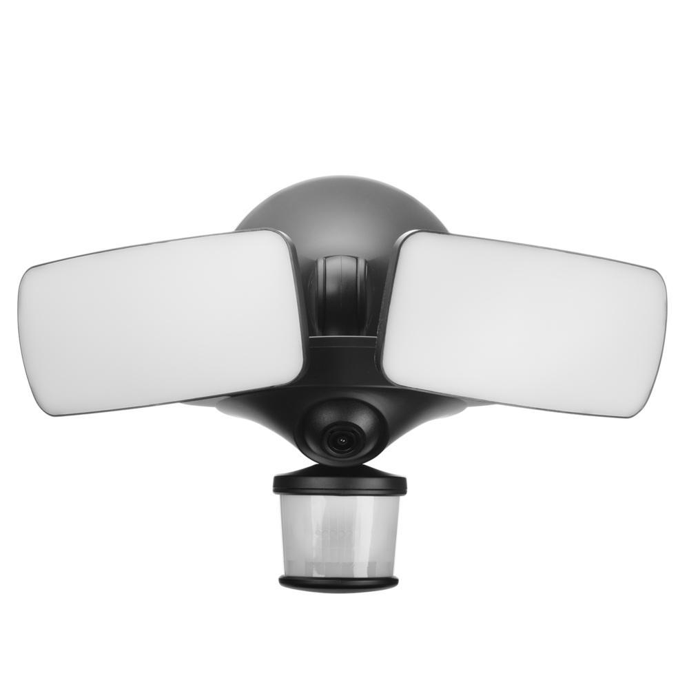 medium resolution of maximus black smart motion activated outdoor integrated led camera floodlight