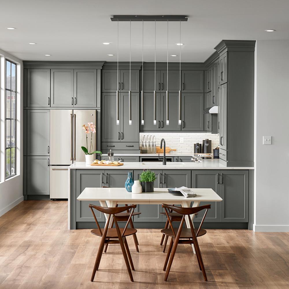 American Woodmark Custom Kitchen Cabinets Shown in