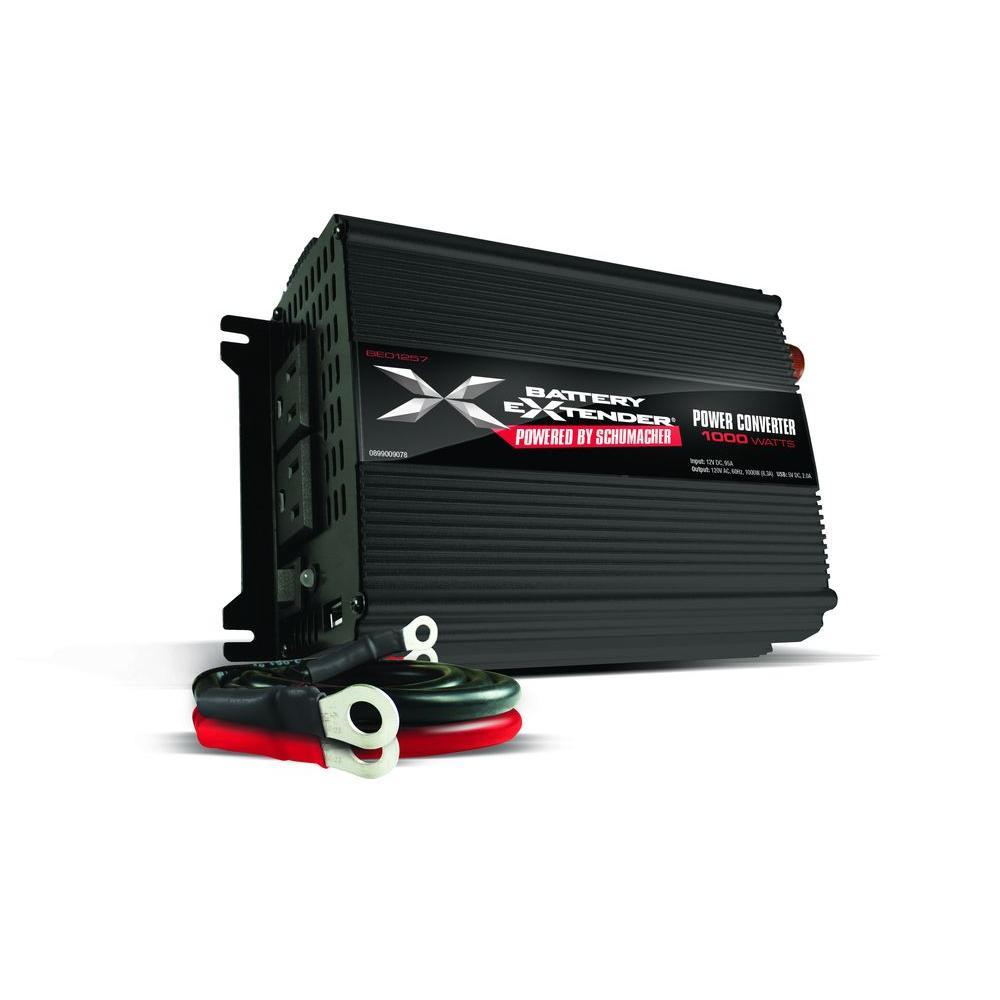 medium resolution of schumacher battery extender 12 volt 1 000 watt power converter