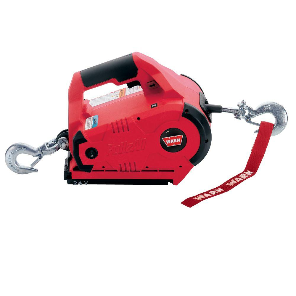 hight resolution of warn 24 volt pullzall handheld cordless portable pulling and lifting tool