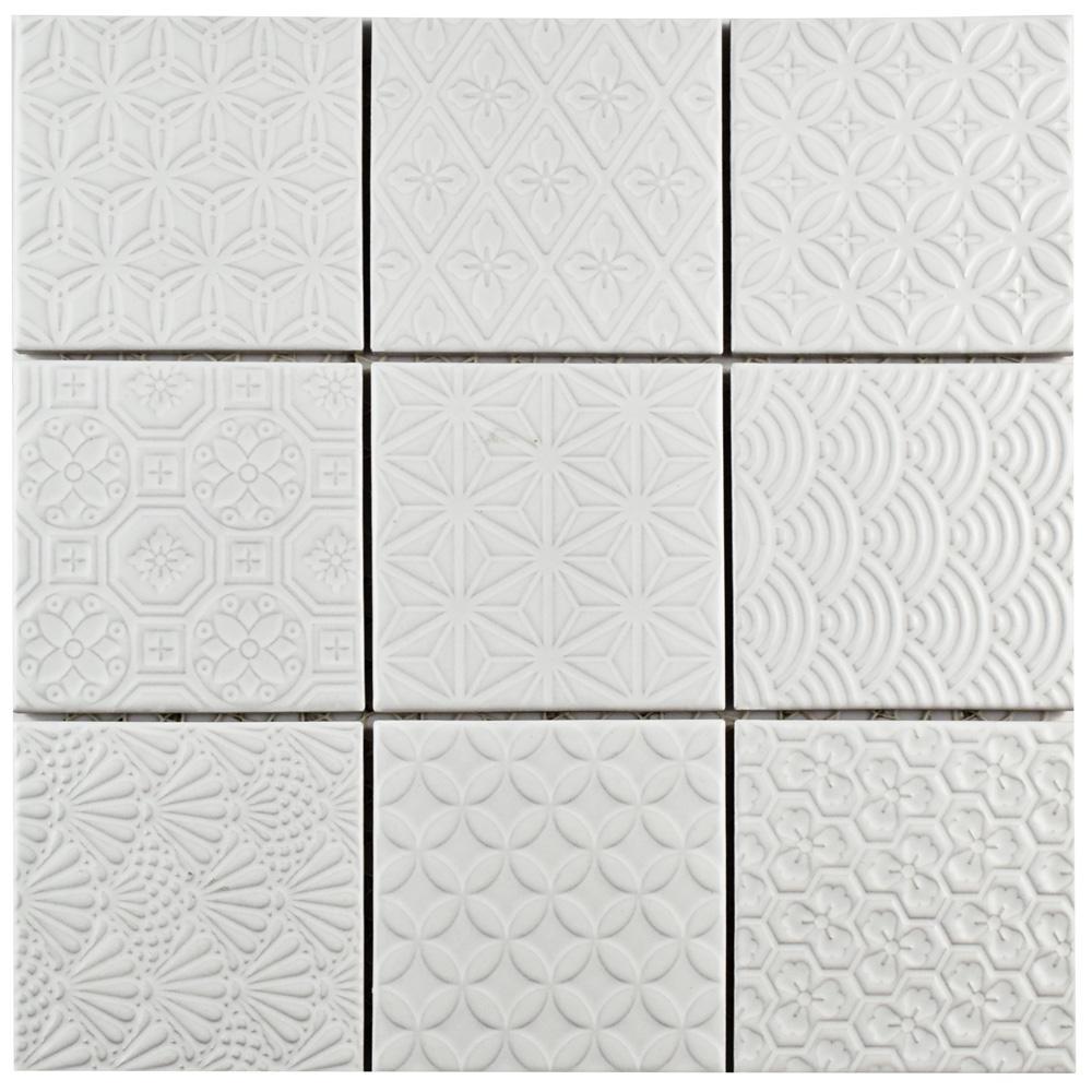 Merola Tile Spirit Black 11-5/8 in. x 11-5/8 in. x 6 mm