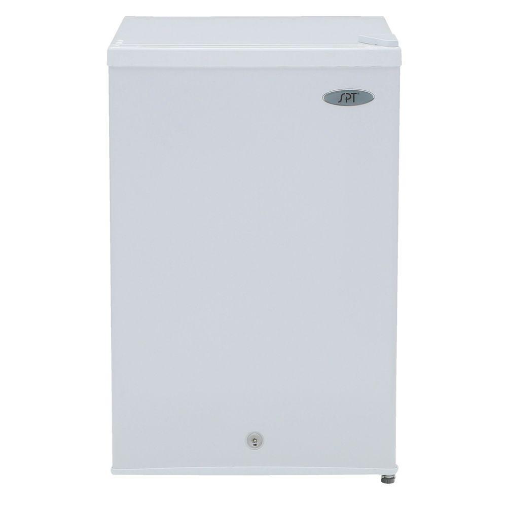 medium resolution of upright freezer in white