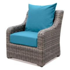 Turquoise Lounge Chair Kitchen Covers Cheap Ae Outdoor Cherry Hill Plastic With Spectrum Peacock Cushion