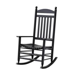 White Rocking Chairs For Sale 500 Lb Capacity Office Chair Patio The Home Depot Bradley Black Slat