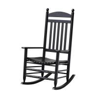 Bradley Black Slat Patio Rocking Chair-200SBF-RTA - The ...