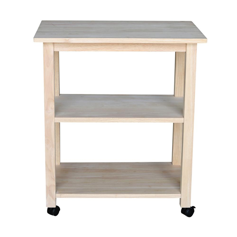 unfinished kitchen cart bulletin board international concepts with shelf 185 the