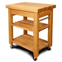 Small Kitchen Carts Irish Blessing Catskill Craftsmen French Country Natural Cart With Storage