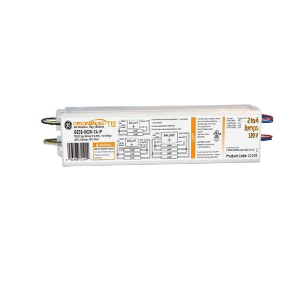 medium resolution of ge 120 volt electronic ballast for 3 ft or 4 ft 1 lamp t12 or t10 rh homedepot com advance ballast t12 ge t12 electronic ballast