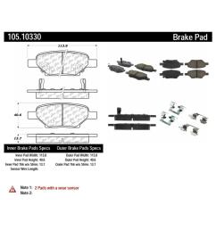 centric disc brake pad set 105 10330 the home depot 2008 chevy hhr engine diagram [ 1000 x 1000 Pixel ]