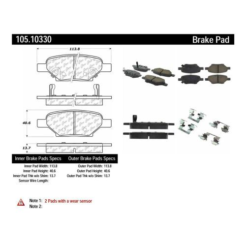 small resolution of centric disc brake pad set 105 10330 the home depot 2008 chevy hhr engine diagram