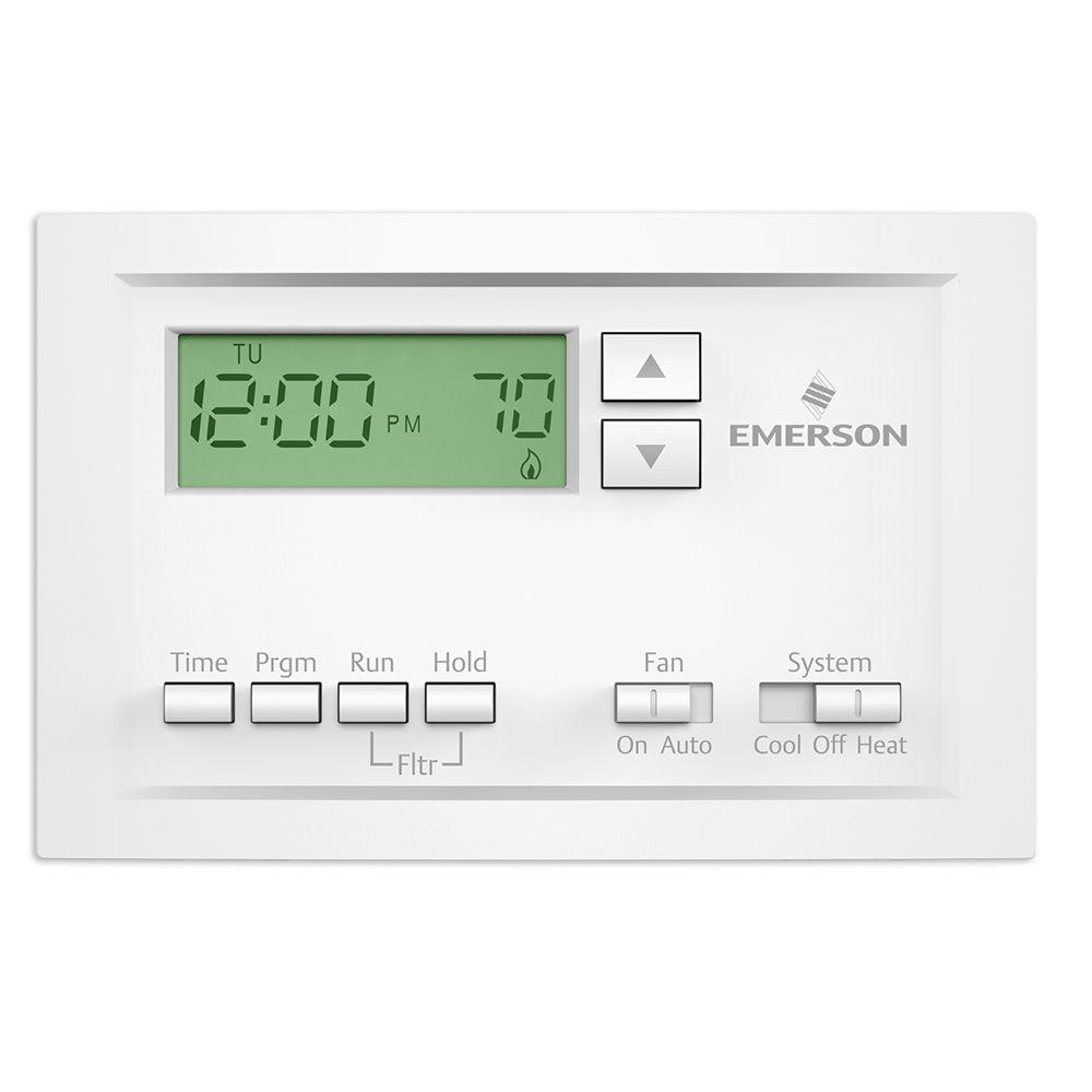 hight resolution of single stage 5 1 1 day programmable thermostat