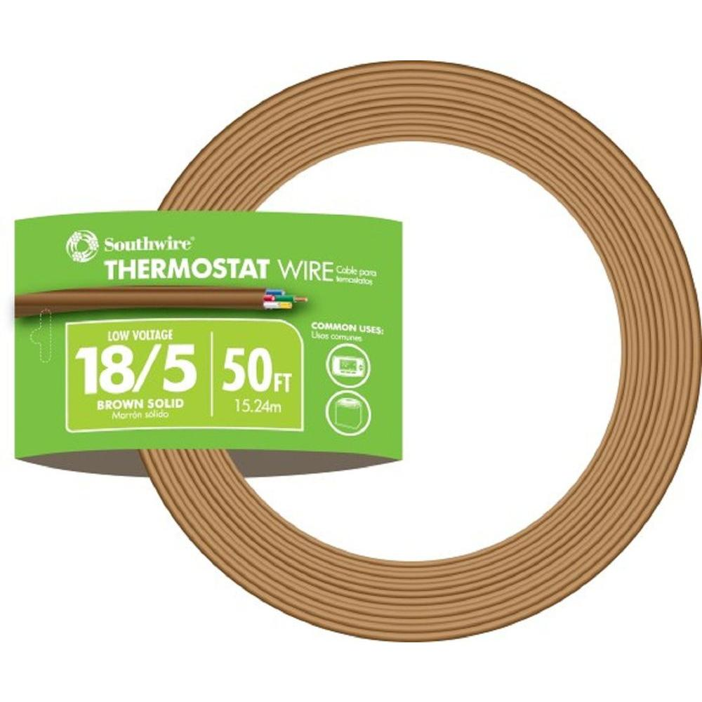 medium resolution of 18 5 brown solid cu cl2 thermostat wire