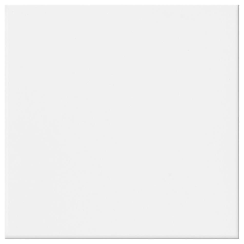 Daltile Glacier White 12 in. x 12 in. Ceramic Floor and