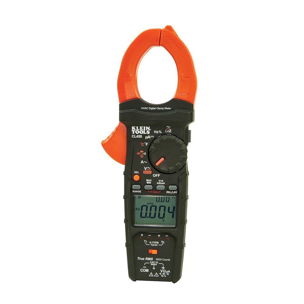 medium resolution of klein tools hvac clamp meter with differential temperature