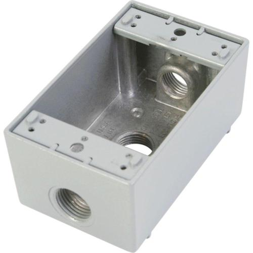small resolution of greenfield 1 gang weatherproof electrical outlet box with three 1 2 in holes