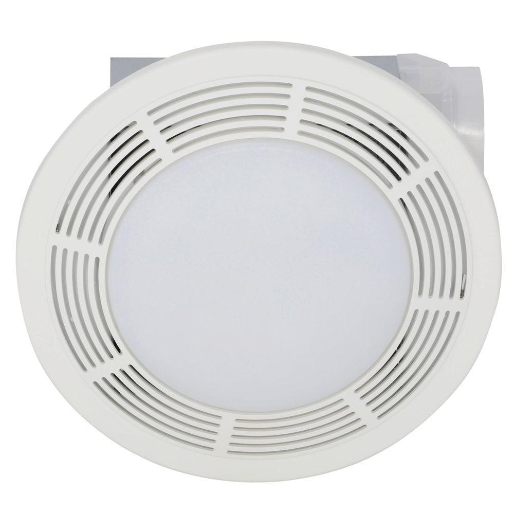 Broan 100 CFM Ceiling Bathroom Exhaust Bath Fan with Light