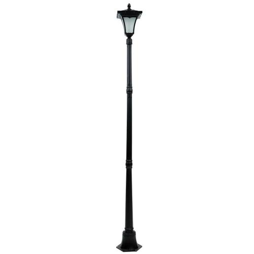 small resolution of single head black flickering candle light outdoor solar lamp post