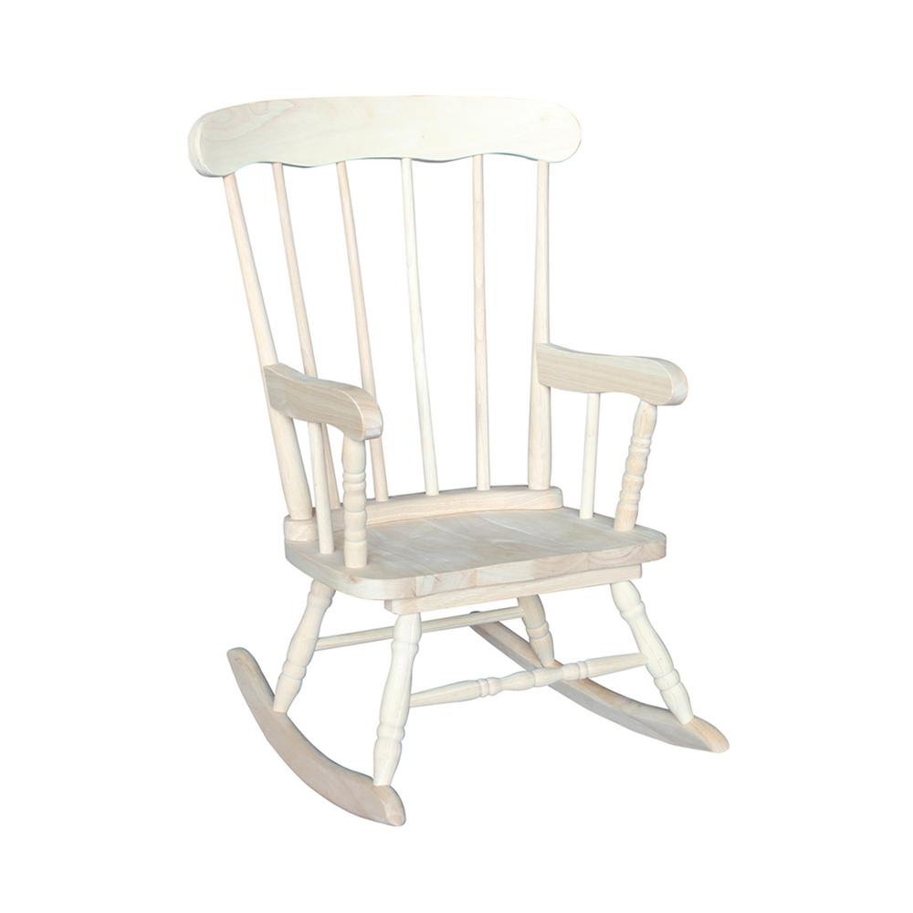 Child Wooden Rocking Chair Unfinished Rocking Kids Chair