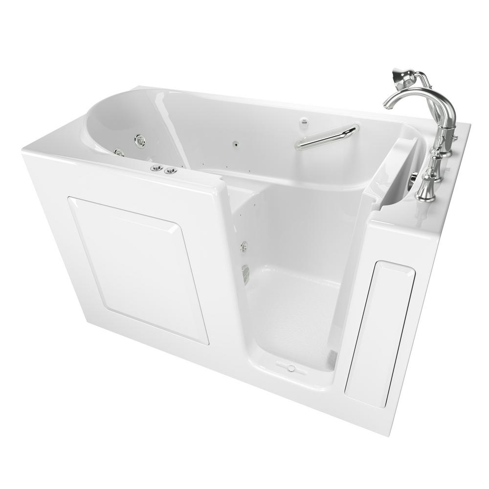 American Standard Exclusive Series 60 in x 30 in Right Hand WalkIn Whirlpool and Air Bath Tub