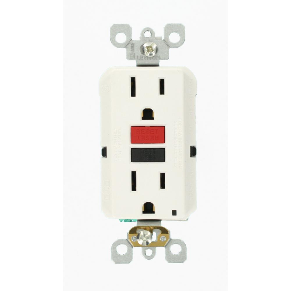 hight resolution of leviton 15 amp self test smartlockpro slim duplex gfci outlet white ground fault receptacle wiring single pole switch and a a