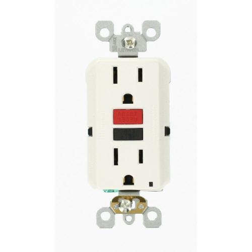 small resolution of leviton 15 amp self test smartlockpro slim duplex gfci outlet white ground fault receptacle wiring single pole switch and a a