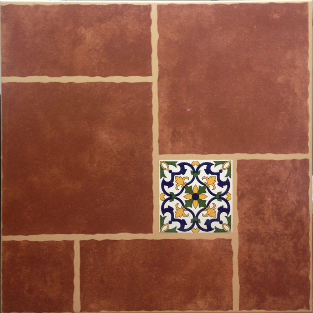 Cali Rojo 18 in x 18 in Ceramic Floor Tile 1540 sq ft