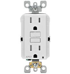 15 amp tamper resistant afci outlet white [ 1000 x 1000 Pixel ]