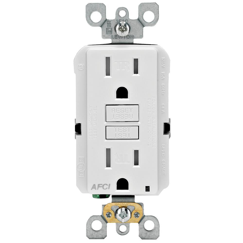 hight resolution of 15 amp tamper resistant afci outlet white